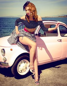 Classic pin-up style