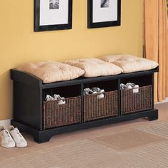 Wildon Home Westport Storage Bench in Black
