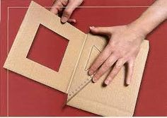 Diy Crafts - How to make photo frame with corrugated cardboard - Art & Craft Ideas Cardboard Picture Frames, Paper Frames, Frame Crafts, Diy Frame, Diy Crafts How To Make, Easy Diy Crafts, Carton Diy, Diy Karton, How To Make Photo
