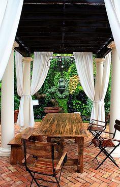 Tuscan Patio -  river-facing patio idea
