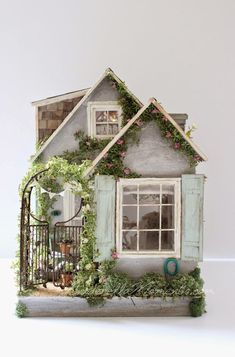 This is a minature house, but I like it as inspiration for a gingerbread house.