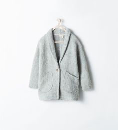 Buttoned three quarter length jacket Zara Girls AW 14