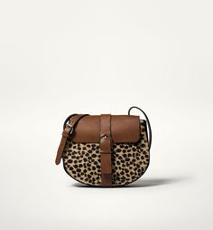 LEOPARD MESSENGER BAG WITH A BUCKLE