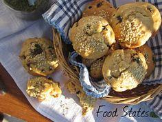 Μάφινς με ελιά (νηστίσιμα) - Food States Bagel, Muffin, Bread, Breakfast, Blog, Morning Coffee, Brot, Muffins, Blogging