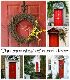 The color of a front door says a lot about the home's owners. Learn why red doors are perceived as welcoming. | The Step Guys