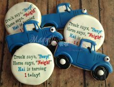 1 dozen Little Blue Truck with Personalized by Magnificookies