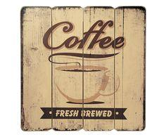 Placa Decorativa Fresh Brewed - 40X40cm | Westwing - Casa & Decoração