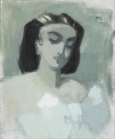 Helene Scherfbeckin Pariisitar (1943 tai 1944). Teos kuuluu Riihimäen taidemuseon Tatjana ja Pentti Wähäjärven kokoelmiin.