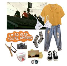 """""""Untitled #15"""" by bananaboyy on Polyvore featuring Madewell, Vans and WALL"""