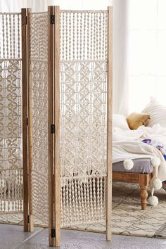 Urban Outfitters-Macrame Folding Screen