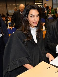 Amal Clooney court robes: see how she responded when someone asked her about her clothes in court. via @WhoWhatWear