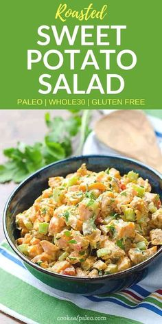 If you're looking for somethingdifferent to bring to your next barbecue, this cold sweet potato salad is amazing! It's naturallysweet from the roasted sweet potatoes with a chipotle lime kick from the easy dressing recipe. This healthy sweet potatosalad is paleo, gluten-free, dairy-free, vegetarian, and Whole30. #cookeatpaleo #sweetpotato #paleodiet #whole30recipes  via @cookeatpaleo
