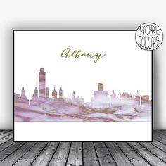 Albany Skyline, Albany Print, Albany NY, Albany New York, Office Decor, Office Art, Modern Art Print, Skyline Art, ArtPrintsZoe #AlbanySkyline #AlbanyNewYork #CityPrint #AlbanyPrint #albany #Print #ArtPrintsZoe #SkylineArt #AlbanyNy #ModernArtPrint