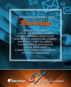 #TipsMicrosip 5 tips para un buen e-mail marketing
