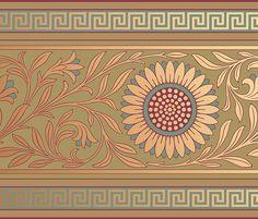 Historic Art Wallpaper | Aesthetic Movement Jeffrey Roomset | Bradbury & Bradbury