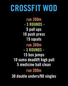 crossfit workout (WOD).