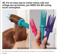 vintage pinup hair tool  I HAVE TO GET THIS TOMORROW!!!! On the possibilities this little tool with allow!!!!
