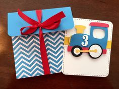 Choo Choo Happy 3rd Birthday Card