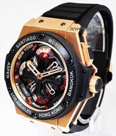 Hublot King Power Unico GMT 18k Rose Gold Watch Box/Papers 771.OM.1170.RX