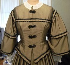 Civil War Reproduction Dress Gown - Made to Order. $450.00, via Etsy.