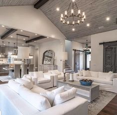 148 comfortable family room design ideas - page 1 ~ Modern House Design Dream Living Rooms, Family Room Design, House Rooms, Farm House Living Room, Luxury Living Room, House, Luxury Living, Living Room Design Decor, House Interior