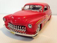 ERTL 1949 Mercury Hot Rod Red Flames Diecast Car Lowrider 1:18 GUC #Ertl #diecast