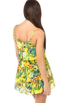 Flor do verão, novo design de dupla camada. Lindo vestido www.donnajosa.loja2.com.br