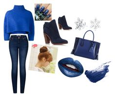 """""""blue again"""" by demarcomichael ❤ liked on Polyvore featuring Vika Gazinskaya, 2LUV, Longchamp, Bling Jewelry, Pin Show, Nevermind and By Terry"""