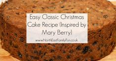 Easy Classic Christmas Cake Recipe (Inspired by Mary Berry) Mary Berry Christmas Cake, Easy Christmas Cake Recipe, Christmas Cookie Icing, Mini Christmas Cakes, Christmas Sweets, Christmas Baking, Christmas 2019, Cake Recipes Bbc, Bbc Good Food Recipes