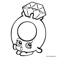 Print Roxy Ring with Diamond shopkins season 3 coloring pages