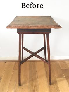 Transforming a table with Chalk Paint - Guides - Vintro Luxury Paint Simple Geometric Pattern, Geometric Decor, Distressing Chalk Paint, Dark Furniture, Flat Brush, Dark Wax, Exposed Wood, Vintage Table, Decorating Your Home