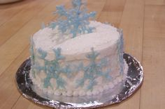 snowflake mini cake