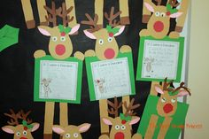 The First Grade Princess: Reindeer Games Christmas Writing, Preschool Christmas, Christmas Fun, Holiday Fun, Xmas, Christmas Art Projects, Holiday Crafts, Olive The Other Reindeer, Classroom Crafts