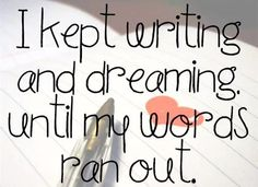 and then I slept, and dream some more..