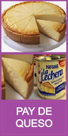 Pie Dessert, Dessert Recipes, Desserts, Mexican Food Recipes, Sweet Recipes, Boricua Recipes, Carribean Food, Flan Recipe, Deli Food