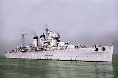 Spanish cruiser Canarias was a heavy cruiser of the Spanish Navy. (google.image) 06.18 #1/3
