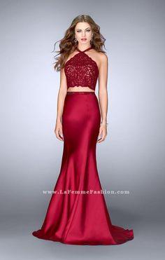 da8f53c60adb La Femme 24491 Mermaid Prom Dresses, Homecoming Dresses, Cutout Dress, Lace  Mermaid,