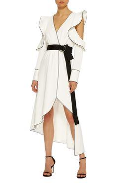Asymmetric Wrap Dress by Self Portrait