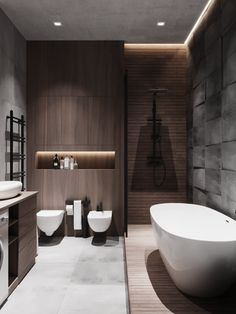 51 Elegant Minimalist Bathroom Design Ideas For Modern Home Decor - Just because you have small sized bathrooms in your home doesn't mean you cannot make it pleasing and stylish like your friend's. There are plenty of . Wc Design, Bathroom Design Layout, Toilet Design, Bathroom Design Luxury, Modern Bathroom Design, Design Ideas, Minimalist Bathroom Design, Interior Design Minimalist, Loft Interior Design
