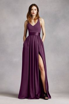 Maid of Honor Dress for Haywood-Lawson Wedding (in PLUM)