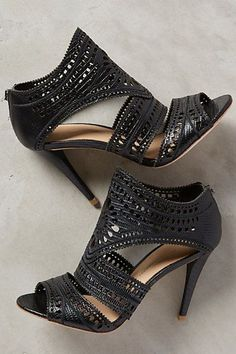 There is nothing basic about this black shoe. I like that it could be worn with several different styles.