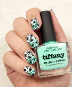 Nail art Tiffany The entire article on the blog : http://klo-s-to-me.com Don't forget to suscribe the newsletter !