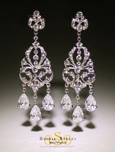 Fabulous Glamourous Vintage Inspired Statement Chandelier Earrings