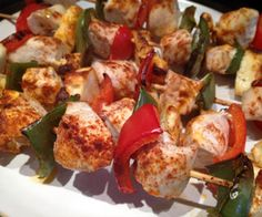 Chicken, halloumi, and paprika skewers