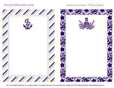 Free Printable Stationary- Nautical Navy & Yellow Printable Stationary  from The Printable Party Shop  http://www.printablepartyshop.com    #printables #wedding #diy