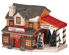 Yuletide Craft Shoppe. SKU# 65235 - This porcelain lighted building for the Harvest Crossing collection was first introduced in 1996 and retired in 2000.