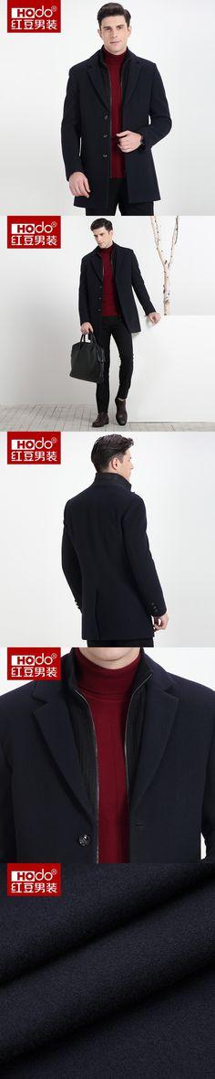 Hodo Men Long Coat 2017 Woolen Overcoat Warm Winter Men's Wool Coat  Overcoat For Men