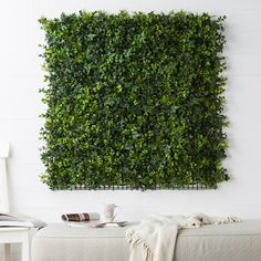 Artificial Green Wall Panels Ivy with Fine Leaf