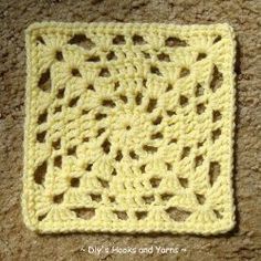 """The """"X"""" Marks the Spot Square is a true treasure. These crochet squares have a lacy """"X"""" design that also makes it perfect for a Valentine's Day X's and O's afghan. Give this free pattern a try and see where your imagination takes you!"""