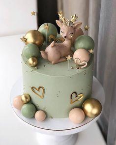 Baby Girl Birthday Cake, Candy Birthday Cakes, Creative Birthday Cakes, Elegant Birthday Cakes, Beautiful Birthday Cakes, Creative Cakes, Pretty Cakes, Cute Cakes, Idee Baby Shower
